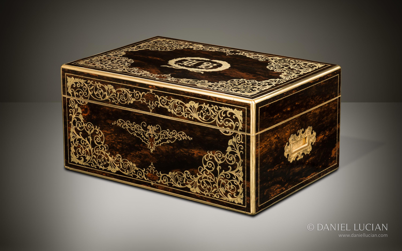 Daniel Lucian Magnificent Antique Jewellery Box in Coromandel with